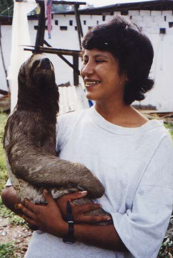 Founder Nena Baltazar with one of the first of many animals rescued by CIWY